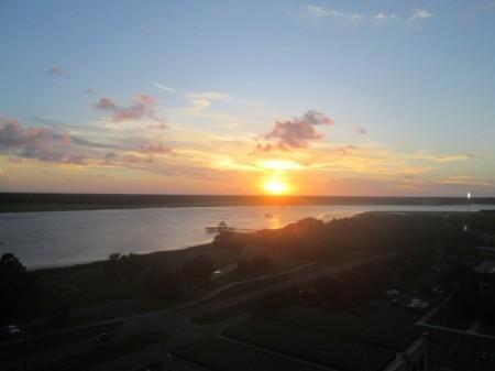 Sunset in Charleston, South Carolina - almost down