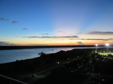 Sunset in Charleston, South Carolina - sun below the horizon