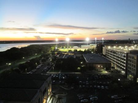 Sunset in Charleston, South Carolina - hotel complex