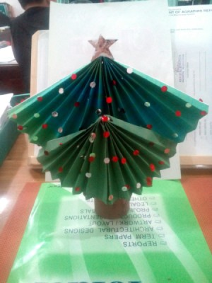 Table Top Mini Christmas Tree - paper tree