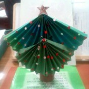 Table Top Mini Christmas Tree - paper tree