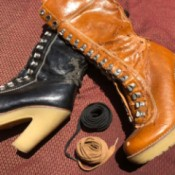 Salvaging Hardware from Junk - lace up boots