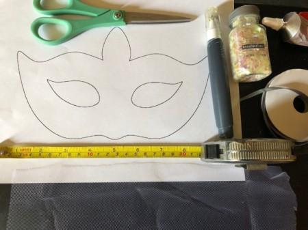 Tulle Masquerade Mask - supplies