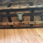 Finding Information on an Old Steamer Trunk - old wooden trunk
