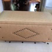 Information on a Vintage Vinyl Covered Cedar Chest - vinyl covered chest