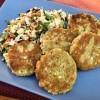 Pesto Chicken Potato Patties on plate