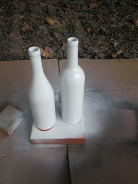 My Mr.& Mrs. Ghost Couple - bottles painted white