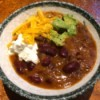 Vegetarian Kidney Bean Chili in bowl