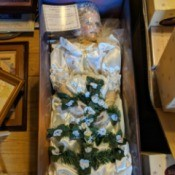 Ashley Belle Porcelain Doll Value - wrapped doll in a box