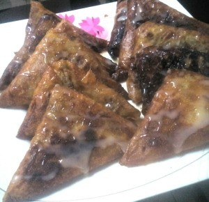 Mung Bean Triangles on plate