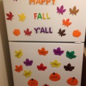 Autumn Decor for Your Refrigerator - decorated refrigerator