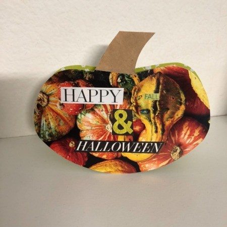 Fall and Halloween Card - finished gourd themed fall card
