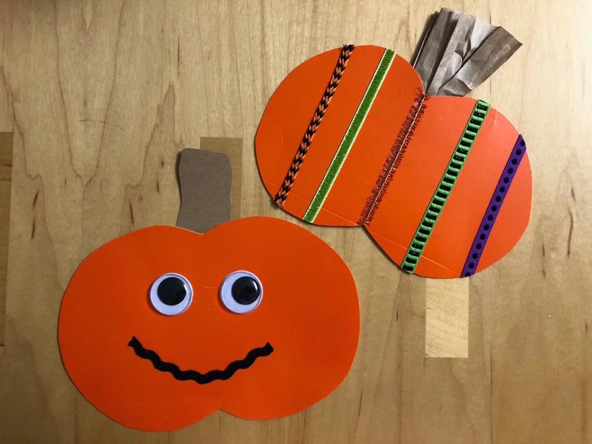 Decorated Paper Pumpkins Thriftyfun
