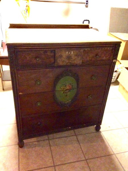 Value Of An Old Dresser With Ornate Fl Medallion On Center Two