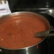 sauce in pan on stove