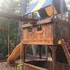 Refinishing a Wooden Playground - like new