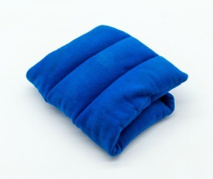 Blue microwave heat pack.