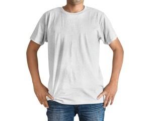Man wearing a t-shirt.