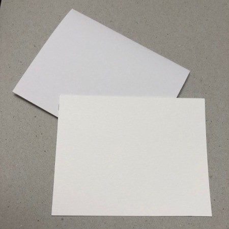 A blank card ready to be decorated.