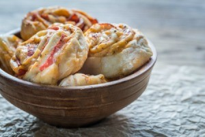 Pizza Buns in a bowl.