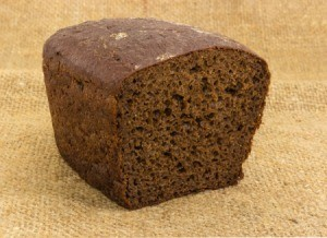 Half a loaf of brown bread.