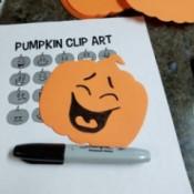 Jack o'Lantern Foam Pumpkin Faces - laughing foam pumpkin face