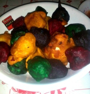 Colorful Kwek-kwek