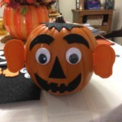 Easy Pumpkin Decorating - funny pumpkin with big ears