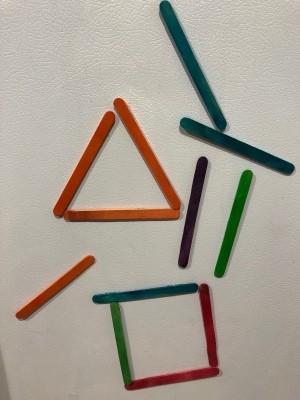Wood Craft Magnetic Sticks - different color sticks on fridge