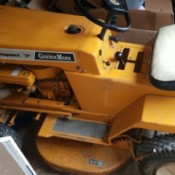 Value of a 1968 Garden Mark Compact 7 Riding Mower - vintage yellow riding mower
