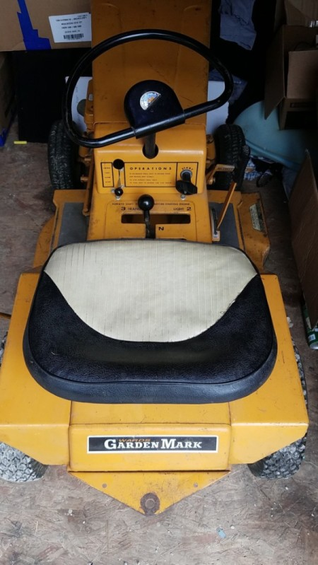 Value of a 1968 Garden Mark Compact 7 Riding Mower