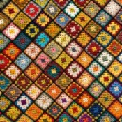 Granny square afghan.