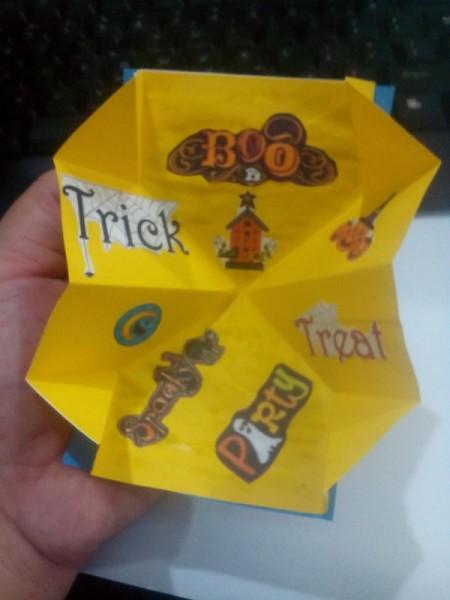 Halloween Explosion Card - open card