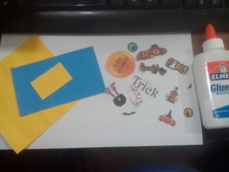 Halloween Explosion Card - supplies