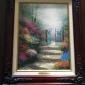 Value of a Thomas Kinkade Garden of Promise Print - framed print