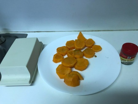 Dilled Carrots on plate