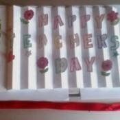 Teacher's Day Pop Up Greeting Card - open card