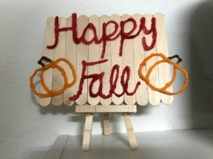 Happy Fall Sign - sign on easel