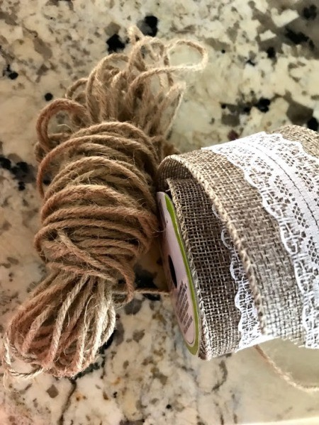A roll of ribbon and twine.