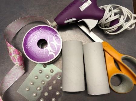 Paper Tube Napkin Rings - supplies