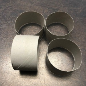 Paper Tube Napkin Rings - cut out the rings