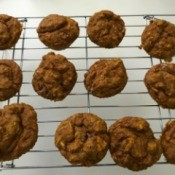 Pumpkin Zucchini Muffins on rack