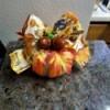 Embellish a Dollar Tree Pumpkin - decorated pumpkin