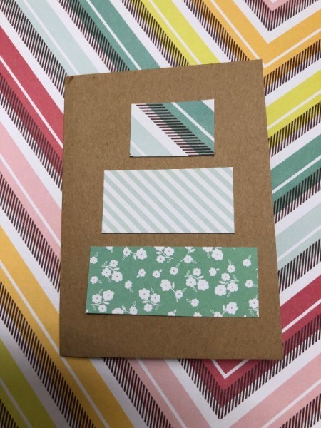 Birthday Gift Card - lay out on card front