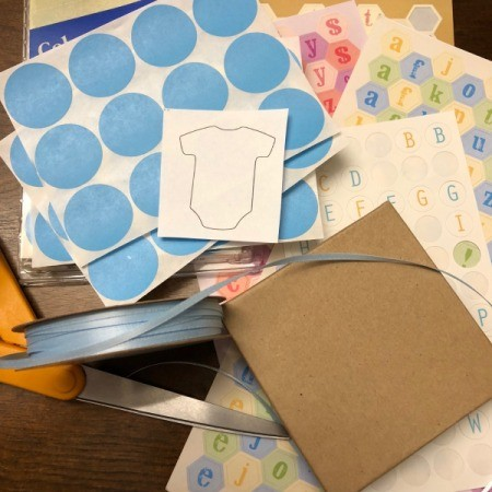 Gender Reveal Surprise in a Box - supplies