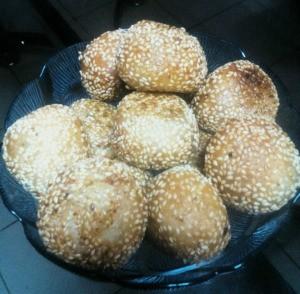cooked Golden Sesame Balls