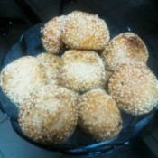 cooked Golden Sesame Balls