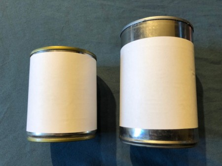Tin Can Lanterns - tape the strips to the cans