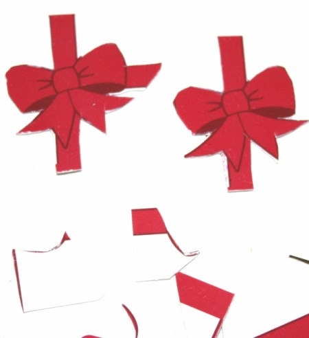 Gift Card and a Little More - cutting out the bow images