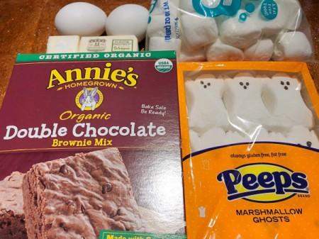 Boo Brownies ingredients